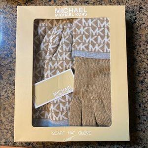 Michael Kors Scarf Hat Glove Set